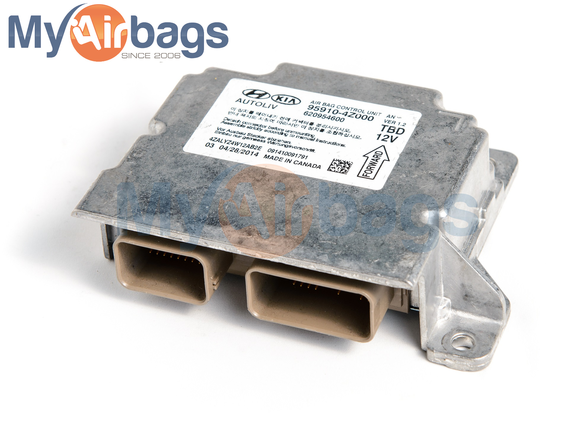 Myairbags Q Amp A What Does An Airbag Control Module Look